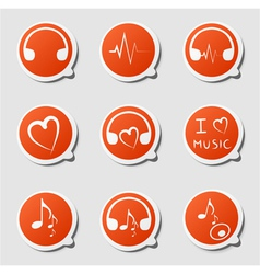 music theme icon vector image