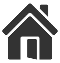 Open House Door Flat Icon vector