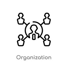 Outline organization icon isolated black simple vector