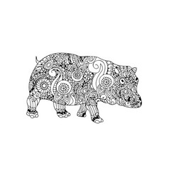 pig animal ornament vector image