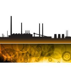 Pollution factory vector