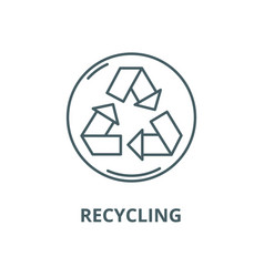recycling line icon linear concept vector image