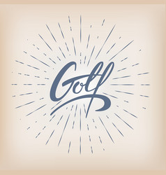 retro golf badge vector image