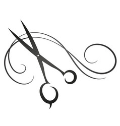 Scissors and hair sign for beauty salon vector
