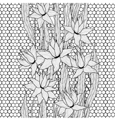 Seamless floral pattern Royal lilies vector image