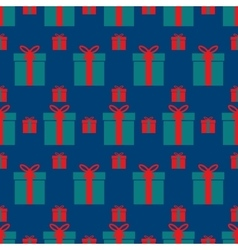 seamless pattern of boxes with gifts vector image