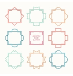 Set of mono line retro frame vector image