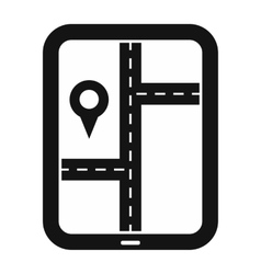Smartphone navigation black simple icon vector image