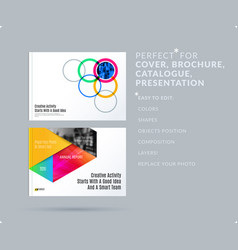 smooth design presentation template with colourful vector image