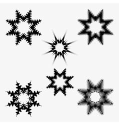 Snowflakes set on white background vector image