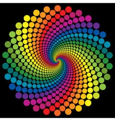 Swirly wallpaper rainbow background vector