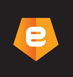 symbol of alphabet letter e vector image