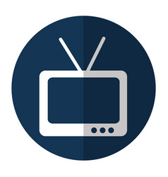 tv retro isolated icon vector image