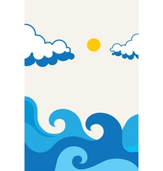 Waves beach Design vector image