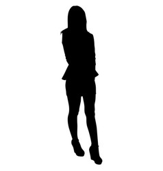 woman with long legs in a short skirt vector image