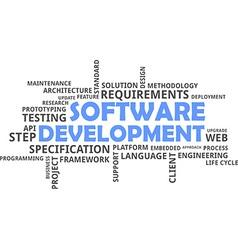 Word cloud software development vector