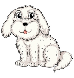 A white puppy vector image vector image