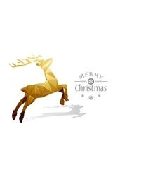 Christmas deer Low Poly vector image