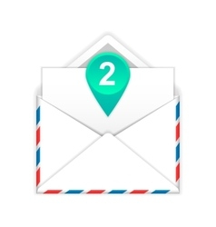 Envelope with two messages flat icon vector image vector image