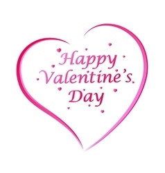 Happy Valentines Day lettering Greeting Card on vector image vector image