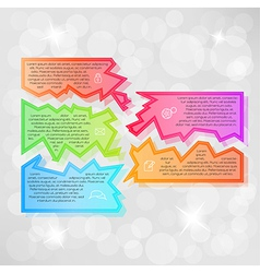 infographic with fragments vector image