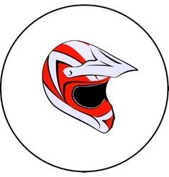 Motocross enduro atv helmet vector image