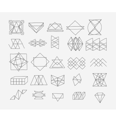 Set of geometric trendy hipster elements shapes vector