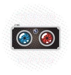Stereo Photo Camera vector image