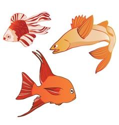 BeautifulMulticoloredIridescentEmotionalFish vector image