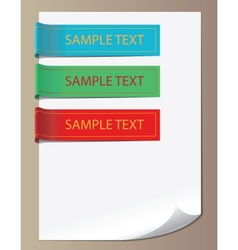 Color bookmarks ribbons vector image vector image