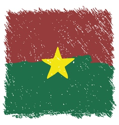 Flag of Burkina Faso handmade square shape vector image vector image