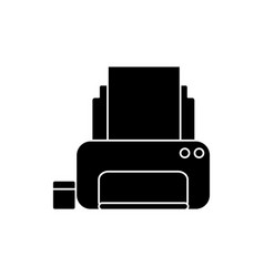office printer device vector image