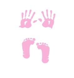 baby girl handprint footprint vector image