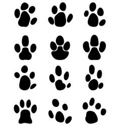 black footprints of tapir vector image vector image