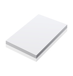 blank realistic notepad notebook isolated on white vector image