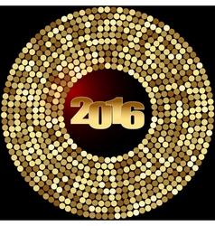 Christmas decoration 2016 vector image