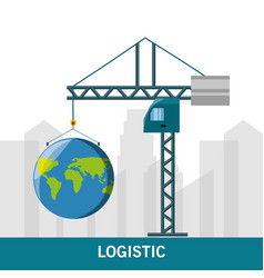 Concept logistic and shipping around the world vector