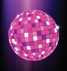 disco ball party poster template vector image vector image