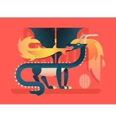 Dragon flat concept vector image vector image