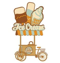 ice cream on wheels vector image vector image