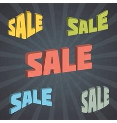 Retro Sales Labels Set vector image