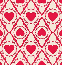 Romantic seamless pattern with heart shapes vector image