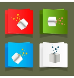 Set of simple square packages for packing vector image
