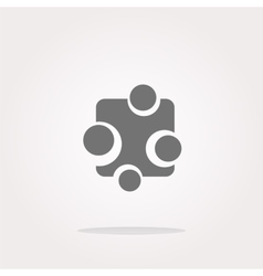 Abstract glossy web button icon isolated vector image vector image