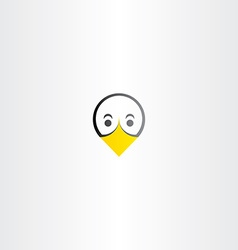 funny bird duck face icon vector image vector image