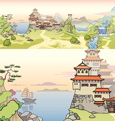 Old Japanese Castle vector image