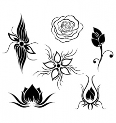 tattoo and flower pattern vector image vector image
