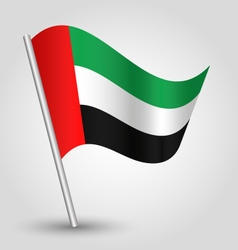united arab emirates flag on pole vector image vector image