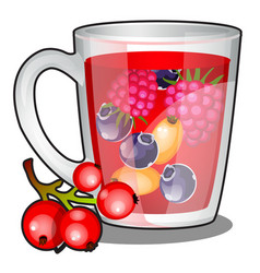 a refreshing vitamin drink on basis of vector image
