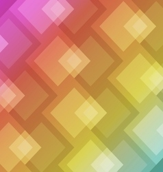 Abstract square shape on colorful background vector